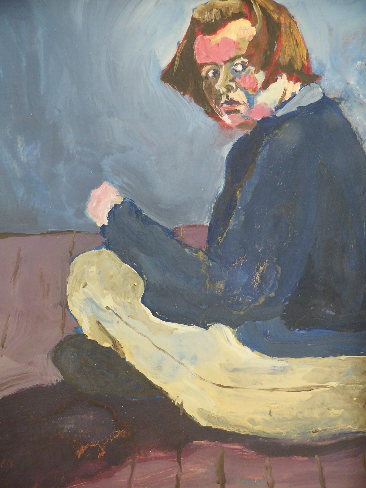'I Won't Let You Get To Me' From the Cross Legged Series Oil on Board 1995